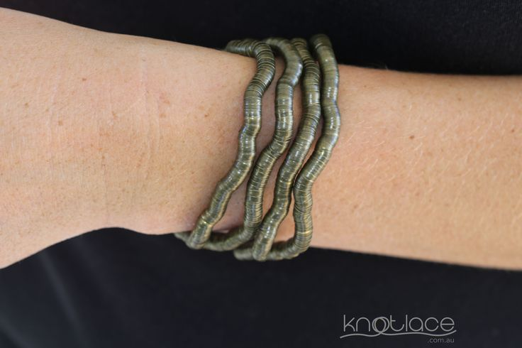 Miss Knotlace bendy necklace or accessory – Antique or Rose Gold.  'Original' Knotlace bendy necklace  accessory. Antique/Rose Gold. - http://www.knotlace.com.au/ #style #fashion #accessory #jewellery #goldaccessory #antiquegold #rosegold