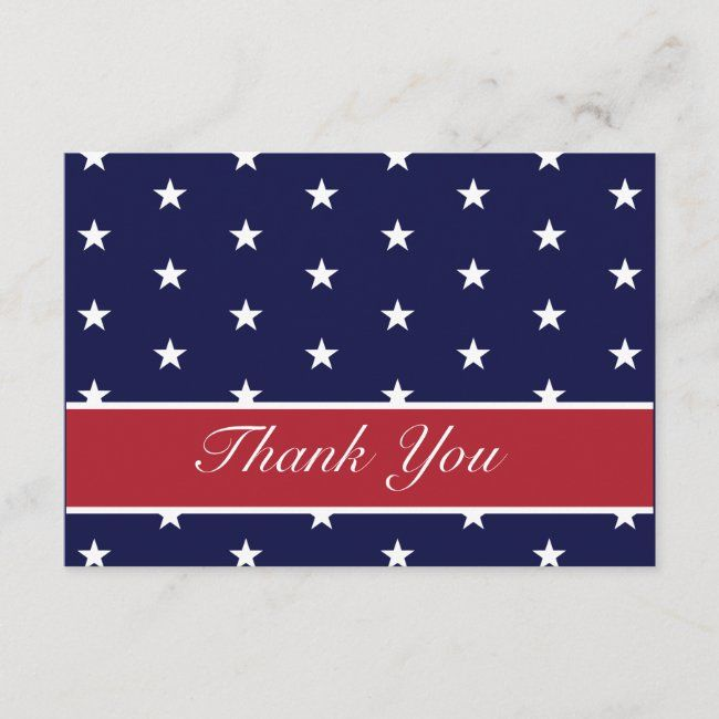 American Flag Stars Thank You Note Cards Zazzle Com In 2020 Thank You Note Cards Note Cards Custom Thank You Cards