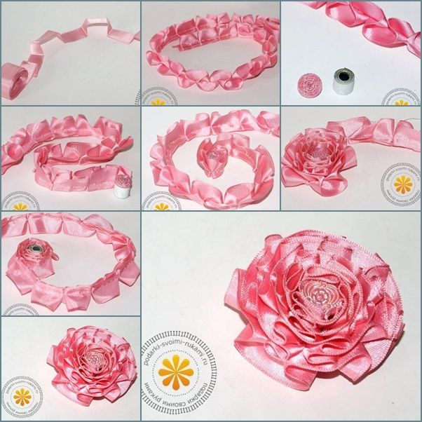 Diy Make Satin Ribbon Carnation Flower Step By Step Embroidery Flowers Pattern Fabric Flowers Diy Carnation Flower