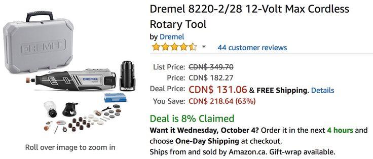 Amazon Canada Deals: 63% on Dremel 12-Volt Max Cordless Rotary Tool & 20% on LED Lighting https://www.lavahotdeals.com/ca/cheap/amazon-canada-deals-63-dremel-12-volt-max/252305?utm_source=pinterest&utm_medium=rss&utm_campaign=at_lavahotdeals&utm_term=hottest_12
