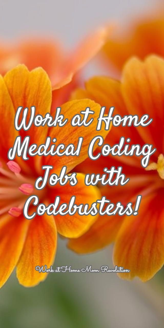 Work at Home Medical Coding Jobs with Codebusters! / Work at Home Mom Revolution