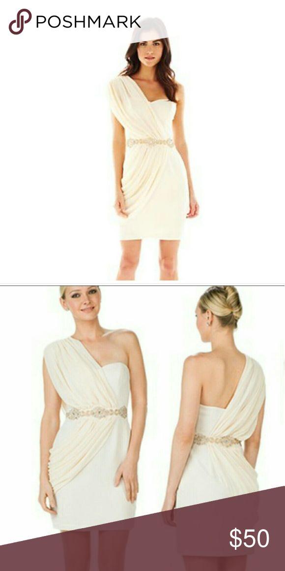 Marchesa Pearl Georgina Chapman Dress 📣📣Today Grecian style Georgina Chapman Pearl gown by Marchesa cream one shoulder absolutely gorgeous dress NWOT Marchesa Dresses One Shoulder