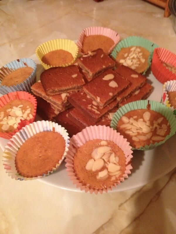 Banana & almond cakes