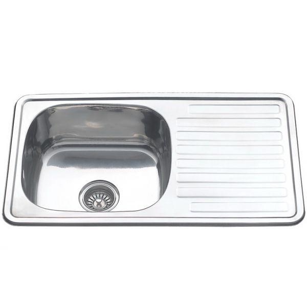 Мойка кухонная стальная врезная Melana 430х760 мм 1 мм универсальная