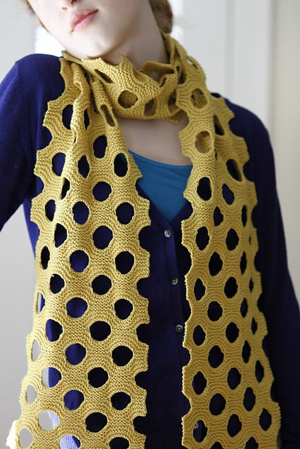 Knitting Lifeline Hole : Free ravelry project gallery for swiss cheese scarf