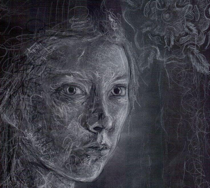 Margaery Tyrell   2014 matite e pastelli bianchi e neri su ...
