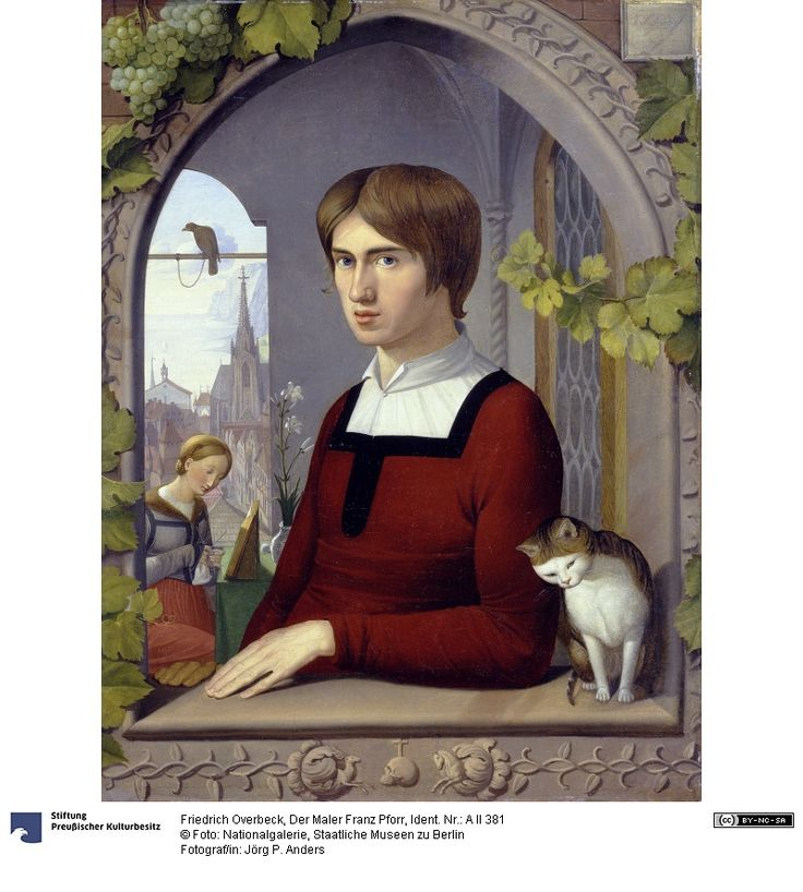 Friedrich Overbeck (German, 1789-1869) - Der Maler Franz Pforr. Nationalgalerie der Staatlichen Museen zu Berlin - Preußischer Kulturbesitz