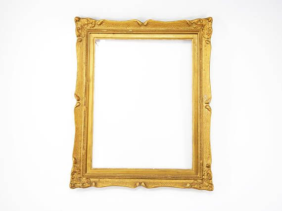 Wooden frame antique wooden frame gold color frame vintage