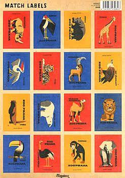マッチラベルシール 動物園