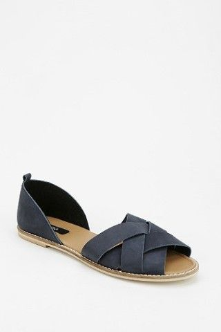 BDG Strappy Peep-Toe Flat - Urban Out
