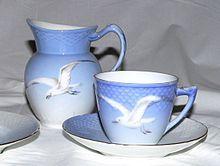 Bing & Grøndahl's Seagull dinnerware, designed by Fanny Garde in 1895
