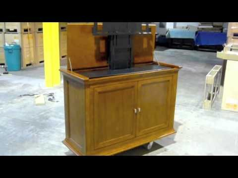 highland tv lift cabinet video by touchstone home products
