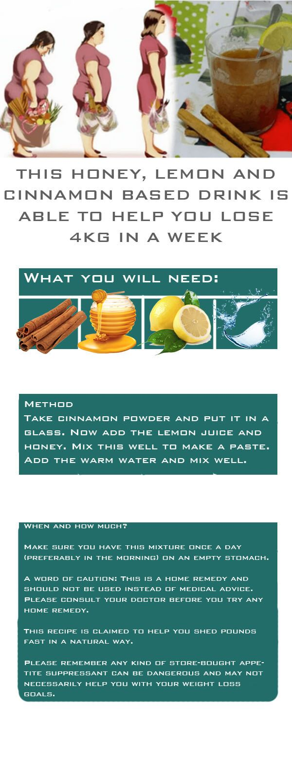 If you want to lose weight but haven't found any success, this remedy is for you — honey, lemon and cinnamon mix. How it works:Honey, lemon and warm water are known to help improve digestion, cleanse your body of toxins and aid in weight loss. This is largely due to the pectin present in lemonsContinue Reading