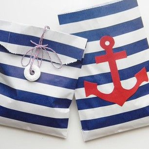 Ahoy, Mateys! Nautical favor bags with #WhiskerGraphics on the blog today. http://www.amyistheparty.com/diy/make-it-nautical-favor-bags/