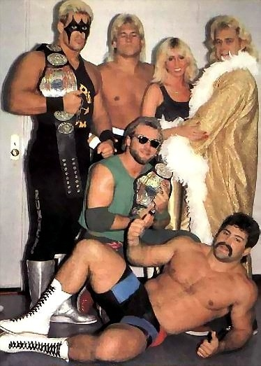 UWF golden days... Sting, Jack Victory, Missy Hyatt, John Tatum, Eddie Gilbert and Rick Steiner