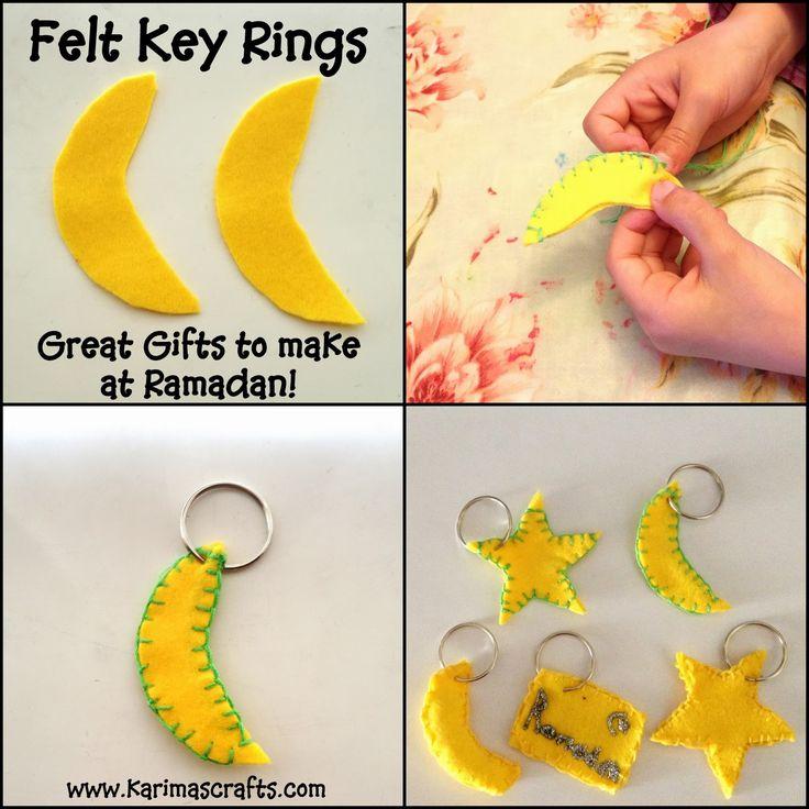 Karima's Crafts: Felt Key Rings - 30 Days of Ramadan