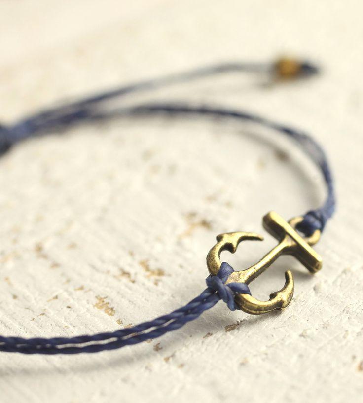 Bronze Anchor Bracelet