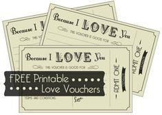 FREE Printable Love Vouchers  Printable Vouchers