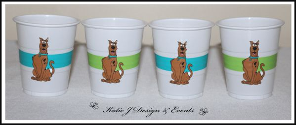 Scooby Doo Personalised Birthday Party Decorations Supplies Packs Shop Online Australia Banners Bunting Wall Display Cupcake Toppers Chocolate Wrappers Juice Water Pop Top Labels Posters Lanterns Invites Cup Stickers Ideas Inspiration Cake Table Katie J Design and Events