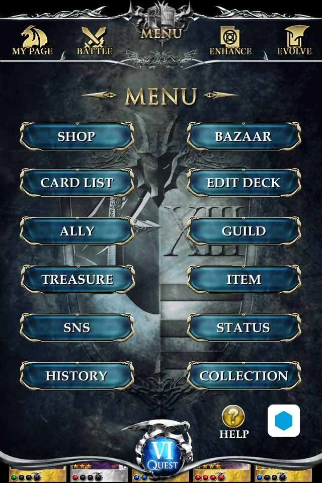 Reign of Dragons / Drecom  Excellent menu transition from top page to main menu section. Great consistency of theme and UI.