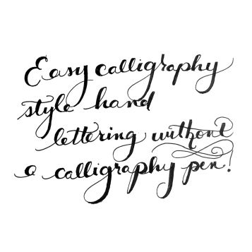 how to write calligraphy without a calligraphy pen
