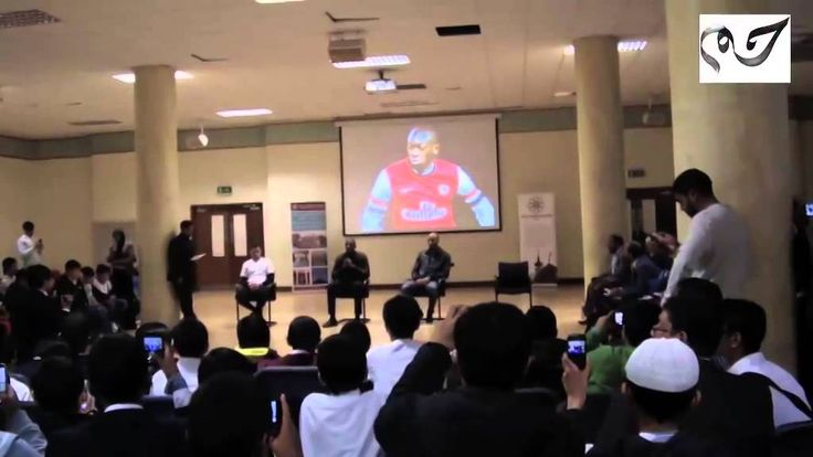 """- Arsenal Footballer Abou Diaby's Quran recitation at East London Mosque -Uploaded to Youtube -Published on May 14, 2014 -Accessed in August, 2014 -""""Arsenal Footballer Abou Diaby recited verses from the Qur'an at the East London Mosque / London Muslim Centre.  Verses are from Surah An Nur, 24th Chapter of the Qur'an The Light. Verses 34-38."""" This plays upon the popularity of the World Cup to show students Islam's diversity.  WEEK 4"""