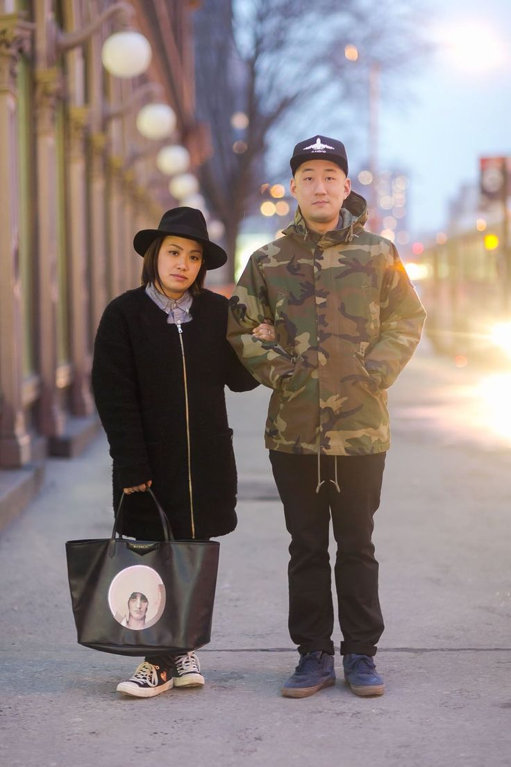 Couple Stalking! 15 Cute NYC Duos #refinery29 http://www.refinery29.com/stylish-couples#slide-8