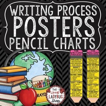 You will love having The Original Writing Process Pencil Clip Chart! This is perfect for your students to go along with your Writer's Workshop! There are several sets of the pencil posters PLUS student cards for their notebooks that are included in this download for you to display in your classroom.
