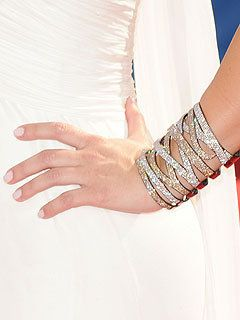 Lorraine Schwartz Champagne and White 80-carat Diamond Platinum Cuff Bracelet Profile Photo