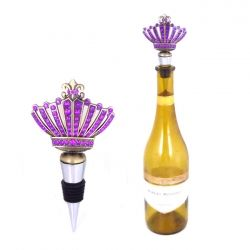 1005pl purple stone wine stopper w crown design i use these stopper in
