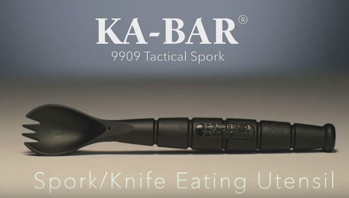 Kabar Ka-Bar Ka Bar Tactical Spork Spoon Knife Combo Camping Eating Tool Outdoor…