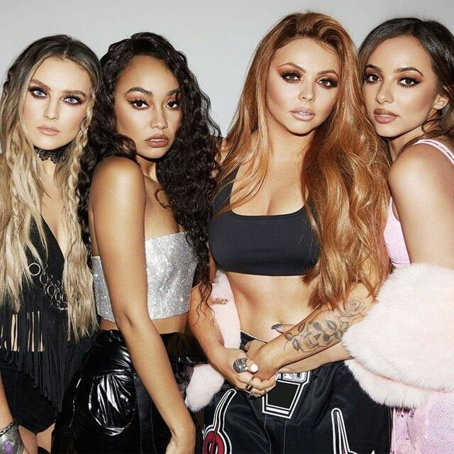 Little Mix! These girls are such an inspiration, so beautiful, best friends, and extremely talented singers! Left to right: Perrie, Leigh-Anne, Jesy, and Jade  @Puppykittybunnyluv