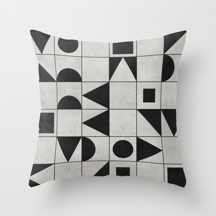 Throw Pillow My Favorite Geometric Patterns No 12 Grey Throw Pillows Geometric Pattern Circle Geometric Pattern