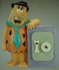 """Vintage Fred Flintstone Coin Piggy Bank 1992 Plastic 7"""" Happiness Express P119"""