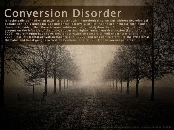 conversion disorder… have u ever heard of this??  I never had until I found out my seizures r caused my stress and anxiety. That's called conversion disorder. How my body deals with stress.