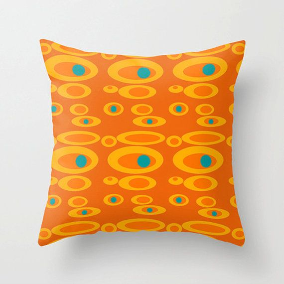 Mod Throw Pillow, Funky Throw Pillow,Decorative Pillow, Funky  Pillow, Modern  Pillow, Mod Cushion,Funky Cushion ,Fun Cushion