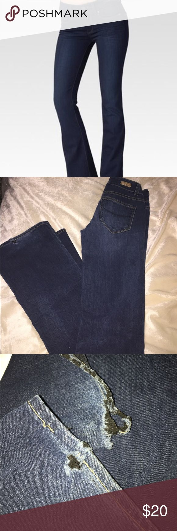Paige bootcut jeans Pre loved but still have a lot of life left in them super comfy Paige hidden hills bootcut jeans size 25 the only flaw is at the bottom of the jeans they are a little torn from dragging other then that nothing else is wrong with them Paige Jeans Jeans Boot Cut