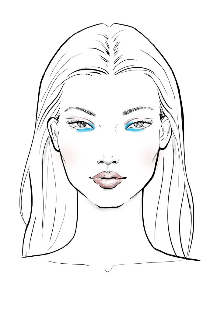раскраска лицо человека для макияжа исследовании останков