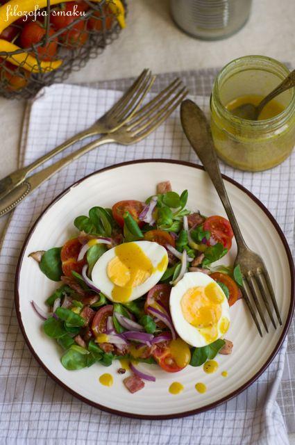 Sałatka z jajkiem i roszponką