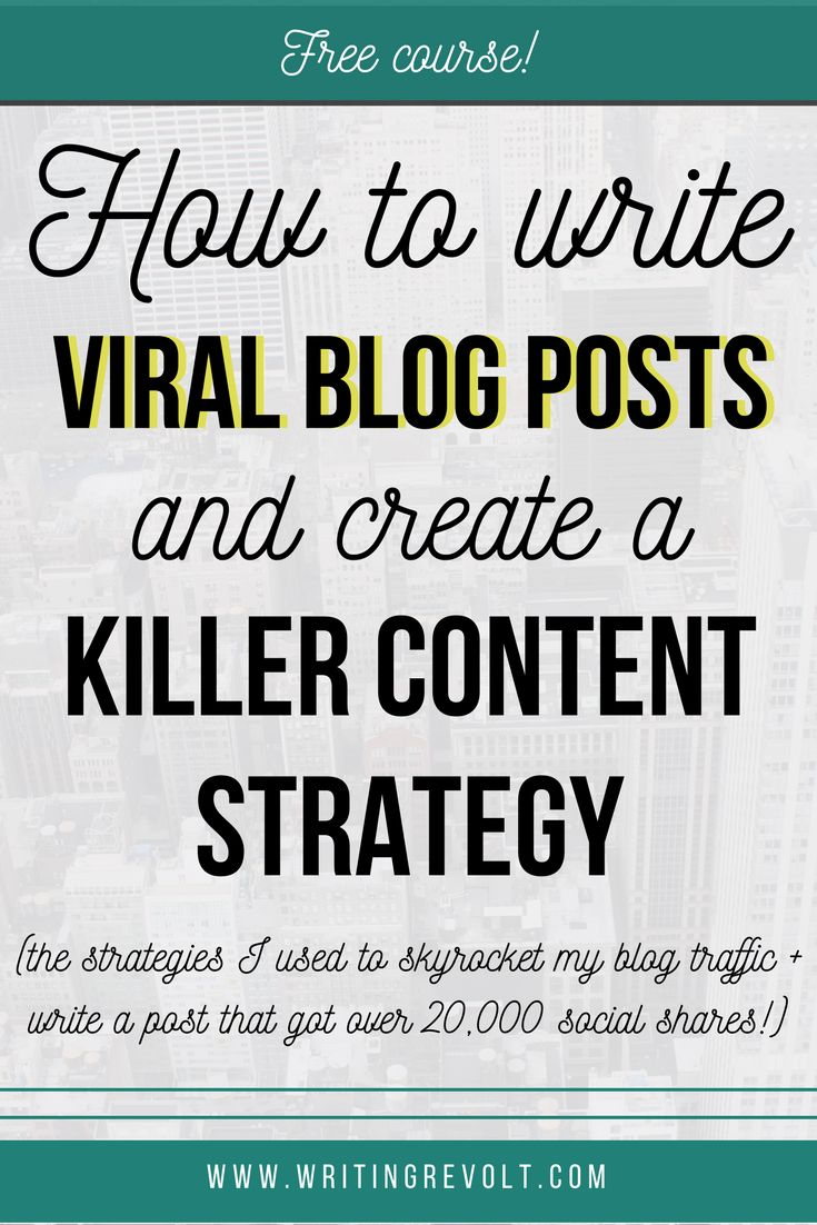 Wanna learn content strategy + how to write a blog post? This FREE course will teach you the process I used to skyrocket my blog growth and write a viral blog post! | blogging course | blogging tips | creative entrepreneur tips | writing tips | business tips | blogger |