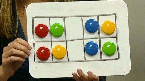 """Visualizing Number Combinations - Lesson For Kindergarten... """"Quick images"""" love her tone, pace, management! A super teacher!"""