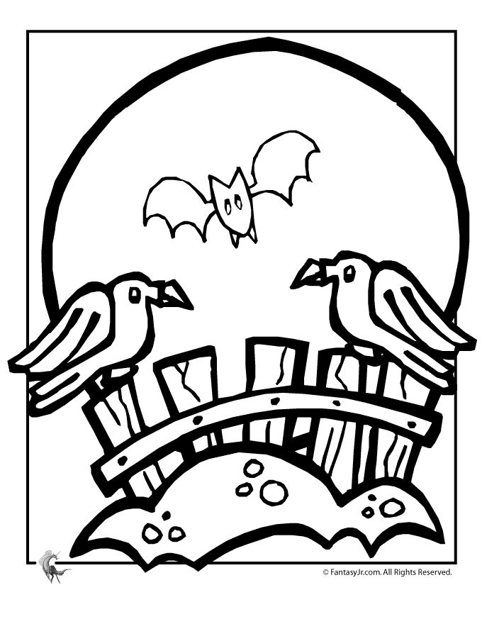 39 best halloween coloring pages images on pinterest | halloween ... - Cute Halloween Bat Coloring Pages