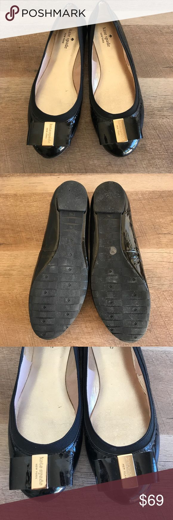 🆕 ♠️ kate spade Black Tock Flats ♠️kate spade black flats ♠️Size 8.5 ♠️Great used condition ♠️Very small imperfection pictured in last picture. You cannot see this when they are on. Please let me know if you have any questions! 😊🌺 kate spade Shoes Flats & Loafers
