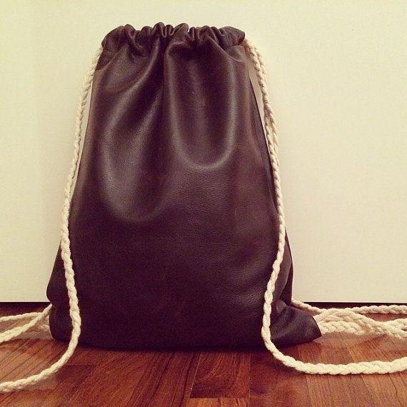 Braid Leather Sack di GliSciarpucci su Etsy