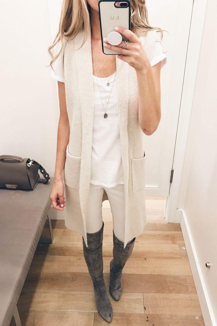loft sale dressing room selfies - sleeveless sweater coatigan on pinterestingplans