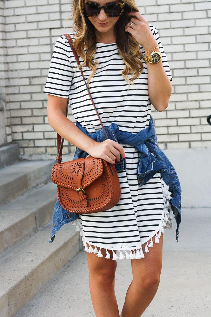 70379c9722 Little Striped Dress With a Twist