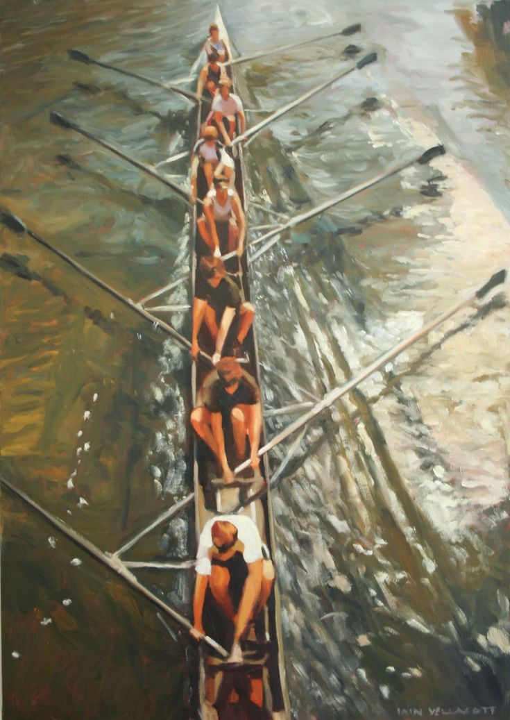 Iain Vellacott Rowing Painting