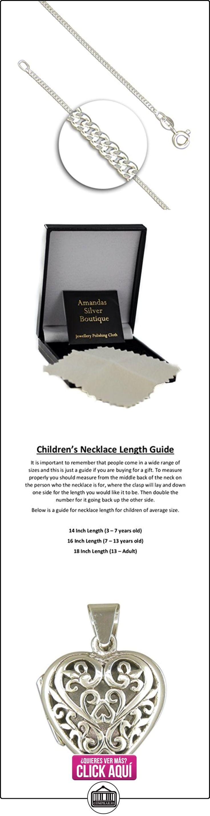 Infantil de plata esterlina de filigrana Corazón colgante collar de eslabones en  ✿ Joyas para niñas - Regalos ✿ ▬► Ver oferta: https://comprar.io/goto/B0090T4INM