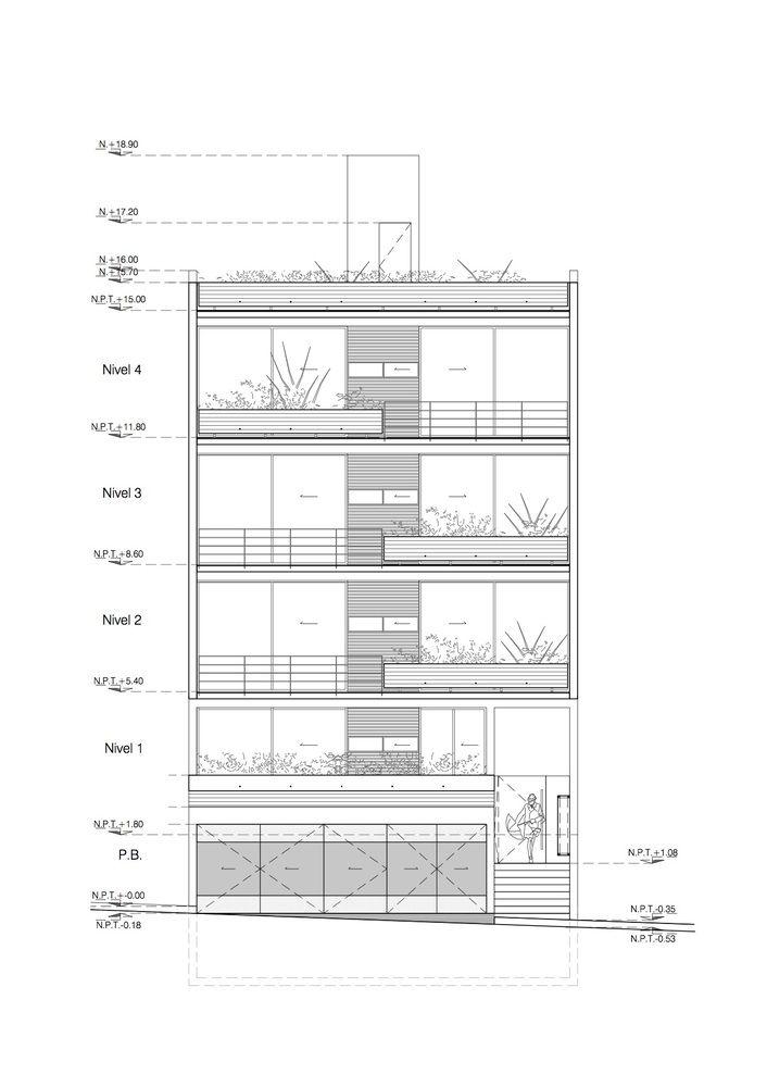 Mejores 228 imágenes de Fachadas edificios vivienda en Pinterest ...