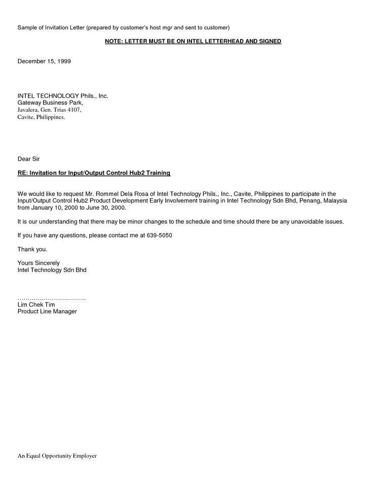 invitation letter for visa application germany